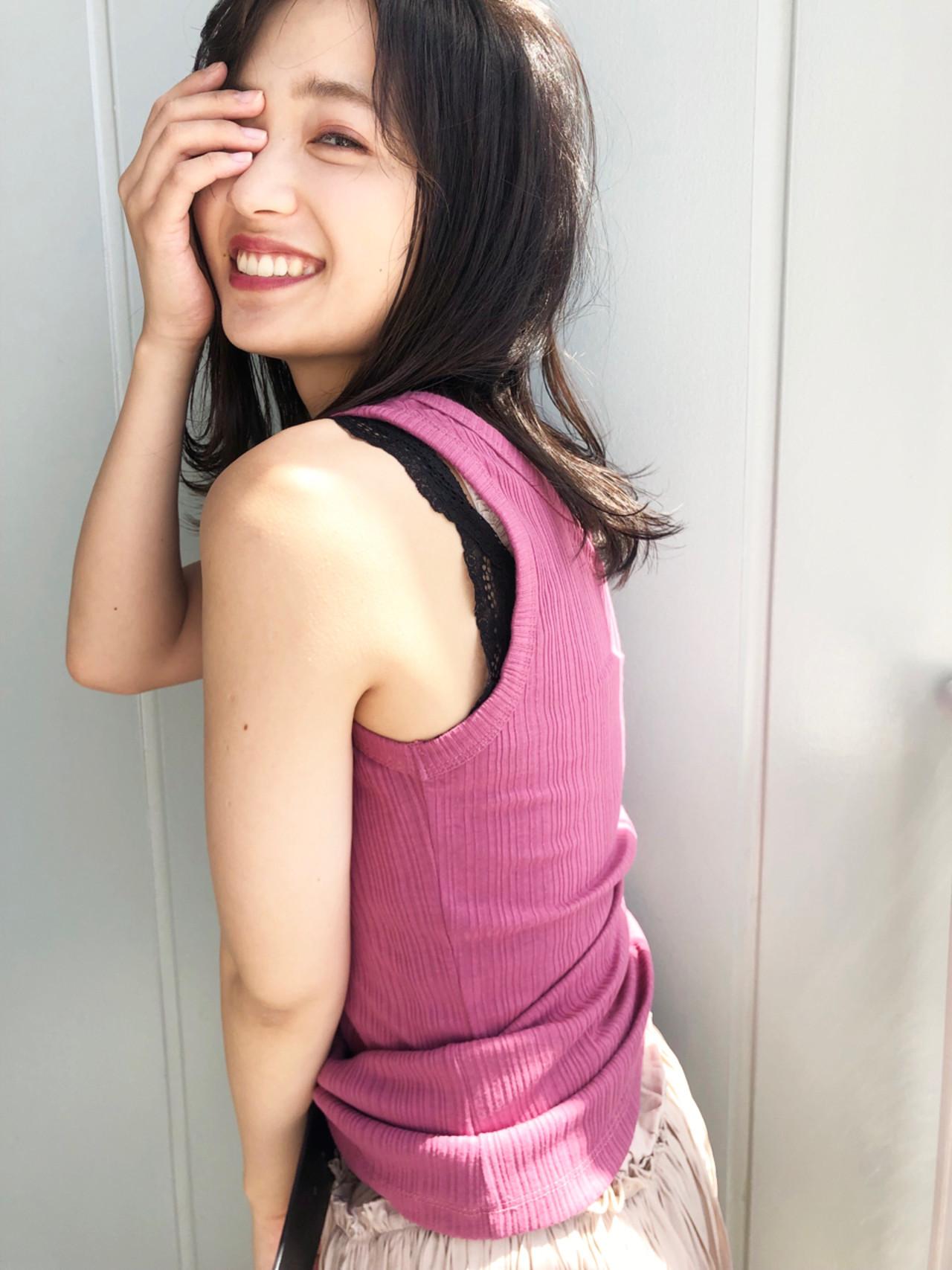 前髪あり 外国人風 透明感 抜け感 ヘアスタイルや髪型の写真・画像