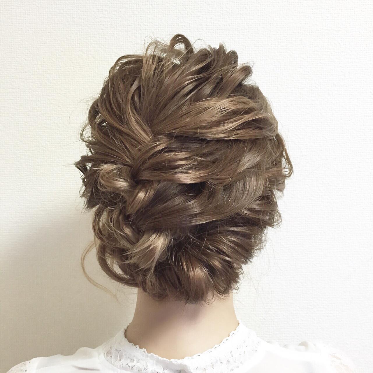 結婚式 ミディアム パーティ ヘアアレンジ ヘアスタイルや髪型の写真・画像