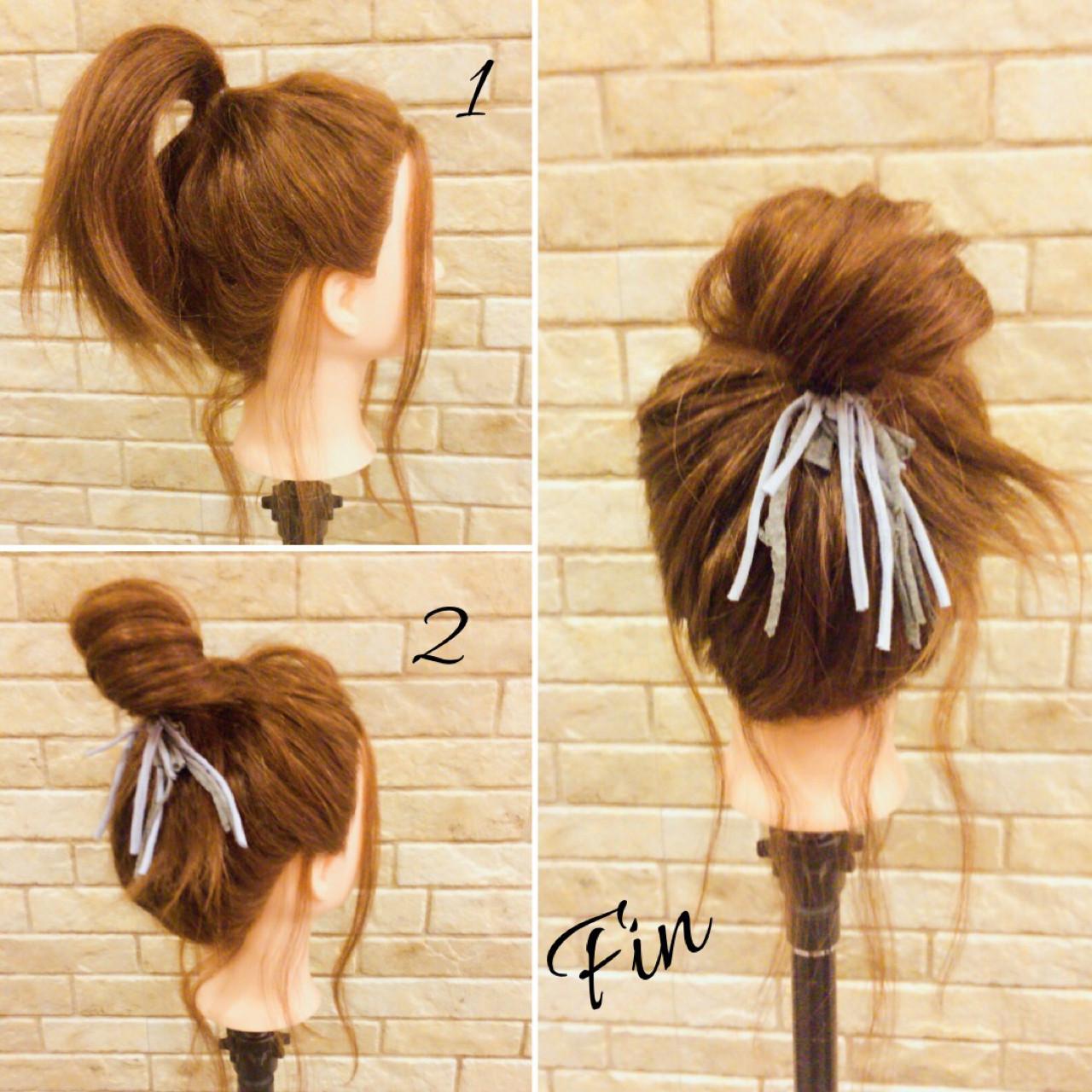 セミロング ヘアアレンジ 大人女子 春 ヘアスタイルや髪型の写真・画像