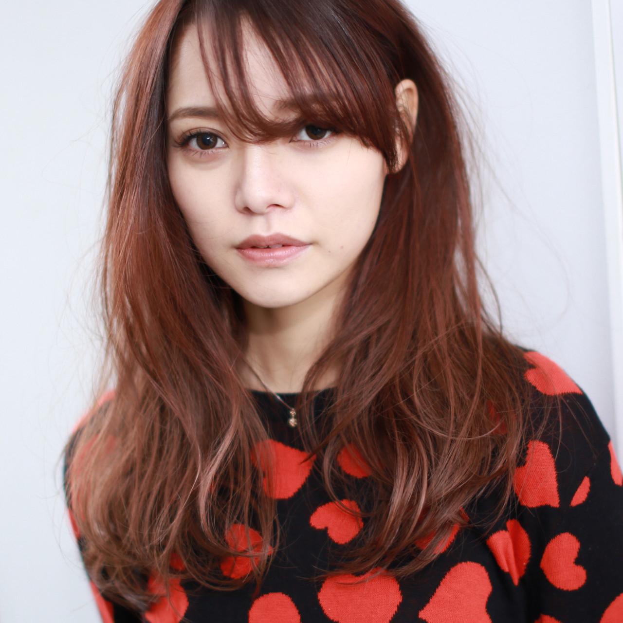 外国人風 ストレート うざバング 外国人風カラー ヘアスタイルや髪型の写真・画像