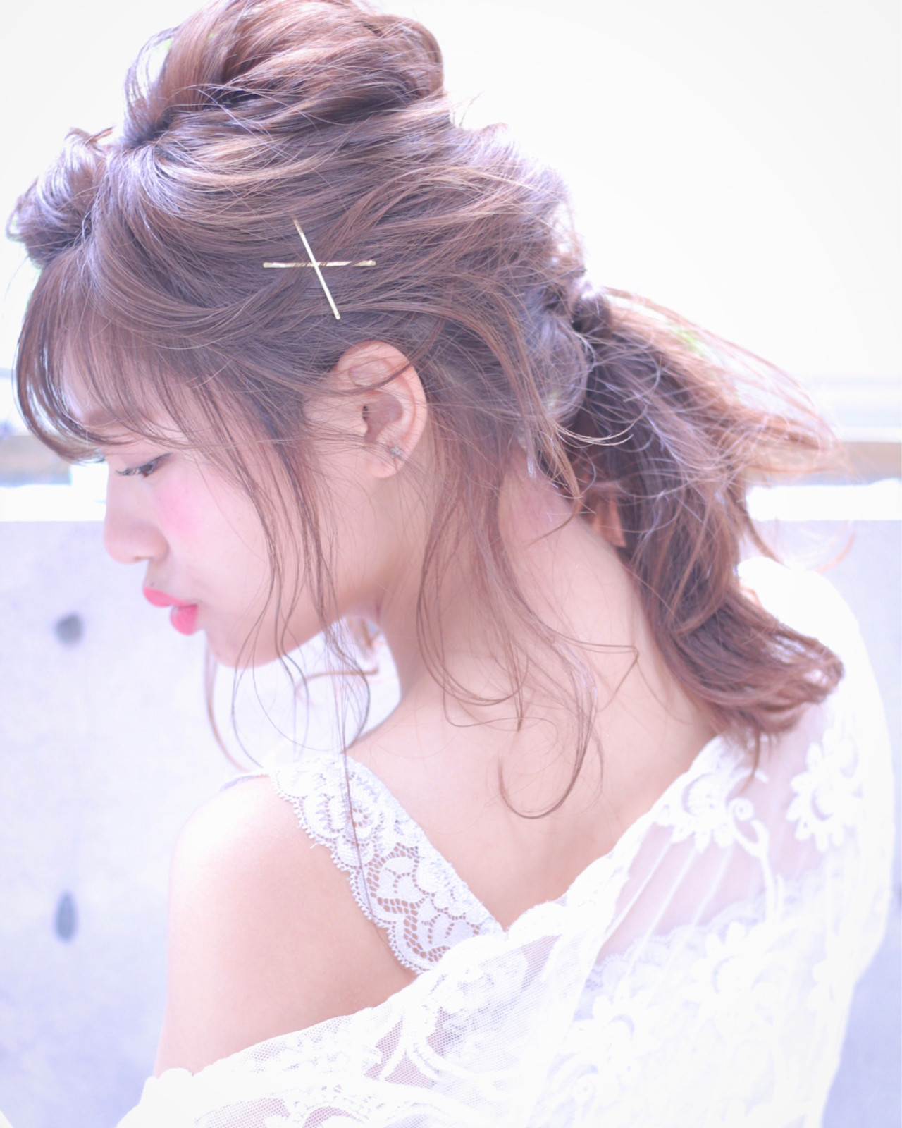 ロマンチック♡大人かわいい前髪ありポニー Wataru Maeda