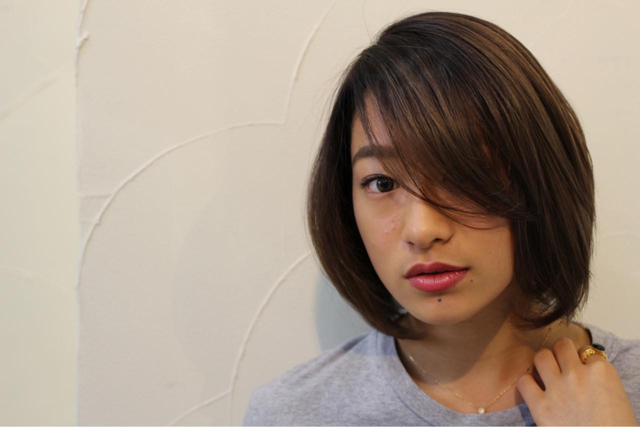 ナチュラル 大人女子 ボブ ミディアム ヘアスタイルや髪型の写真・画像