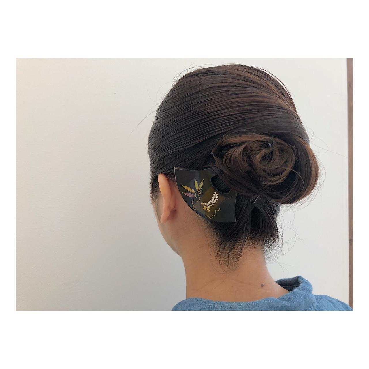結婚式 エレガント 和装 ロング ヘアスタイルや髪型の写真・画像