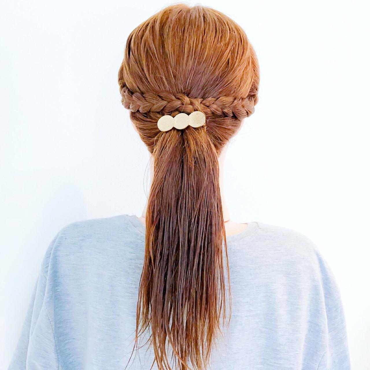 涼しげ 夏 ポニーテール オフィス ヘアスタイルや髪型の写真・画像