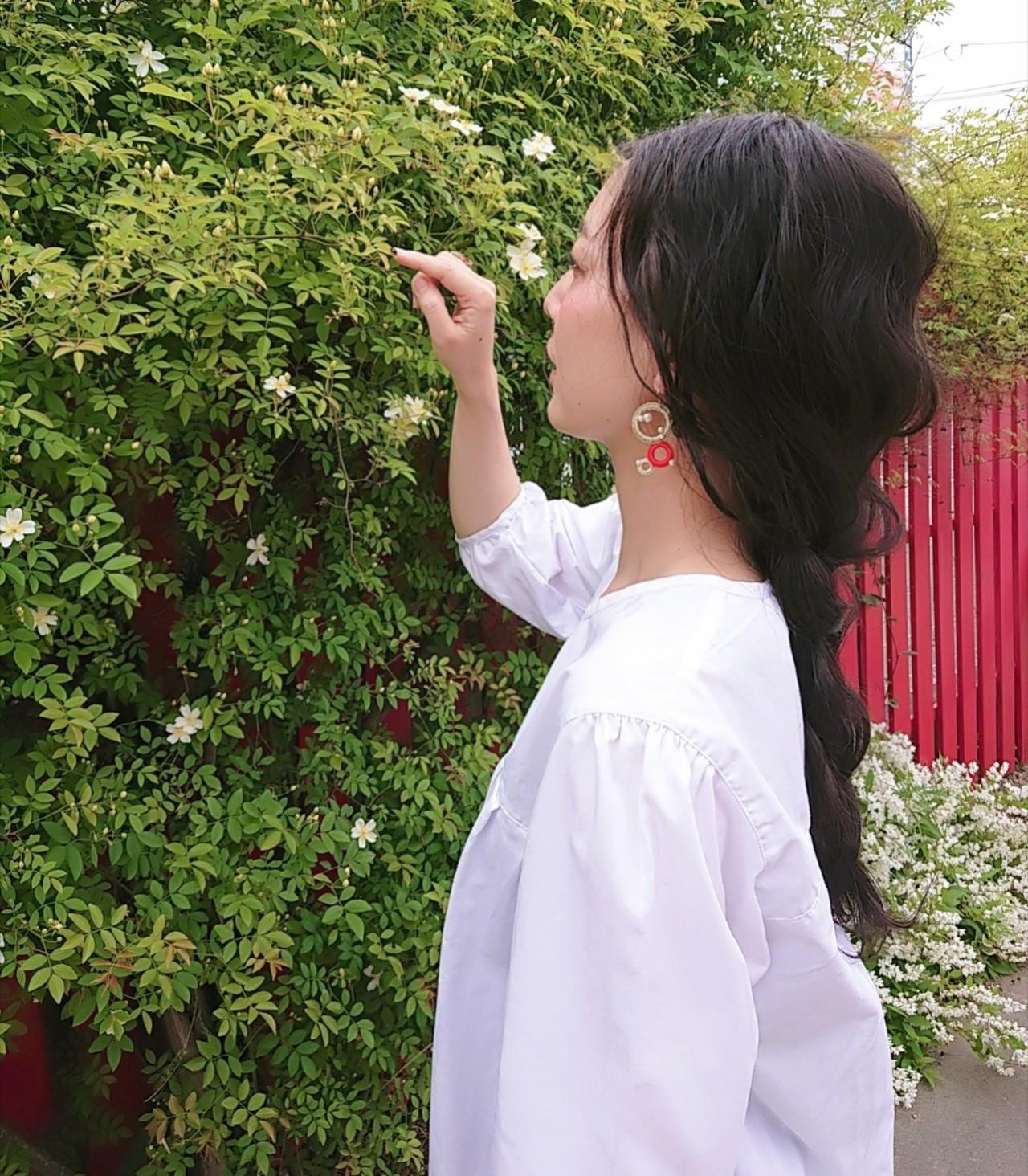 大人女子 ヘアアレンジ デート ロング ヘアスタイルや髪型の写真・画像