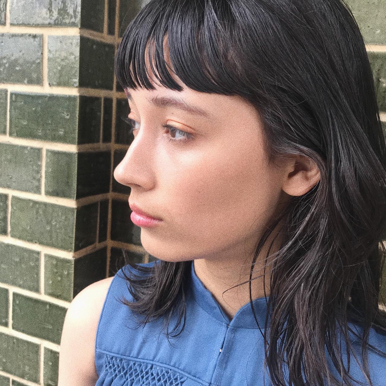 前髪あり モード パーマ ロング ヘアスタイルや髪型の写真・画像