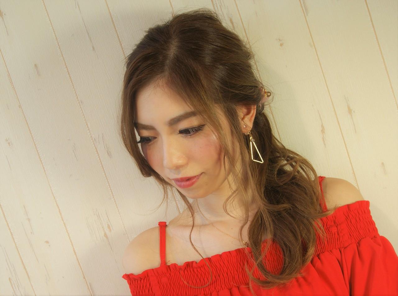 ゆるふわフェミニンなひし形ロング 菅原匠  hair&nail anchor