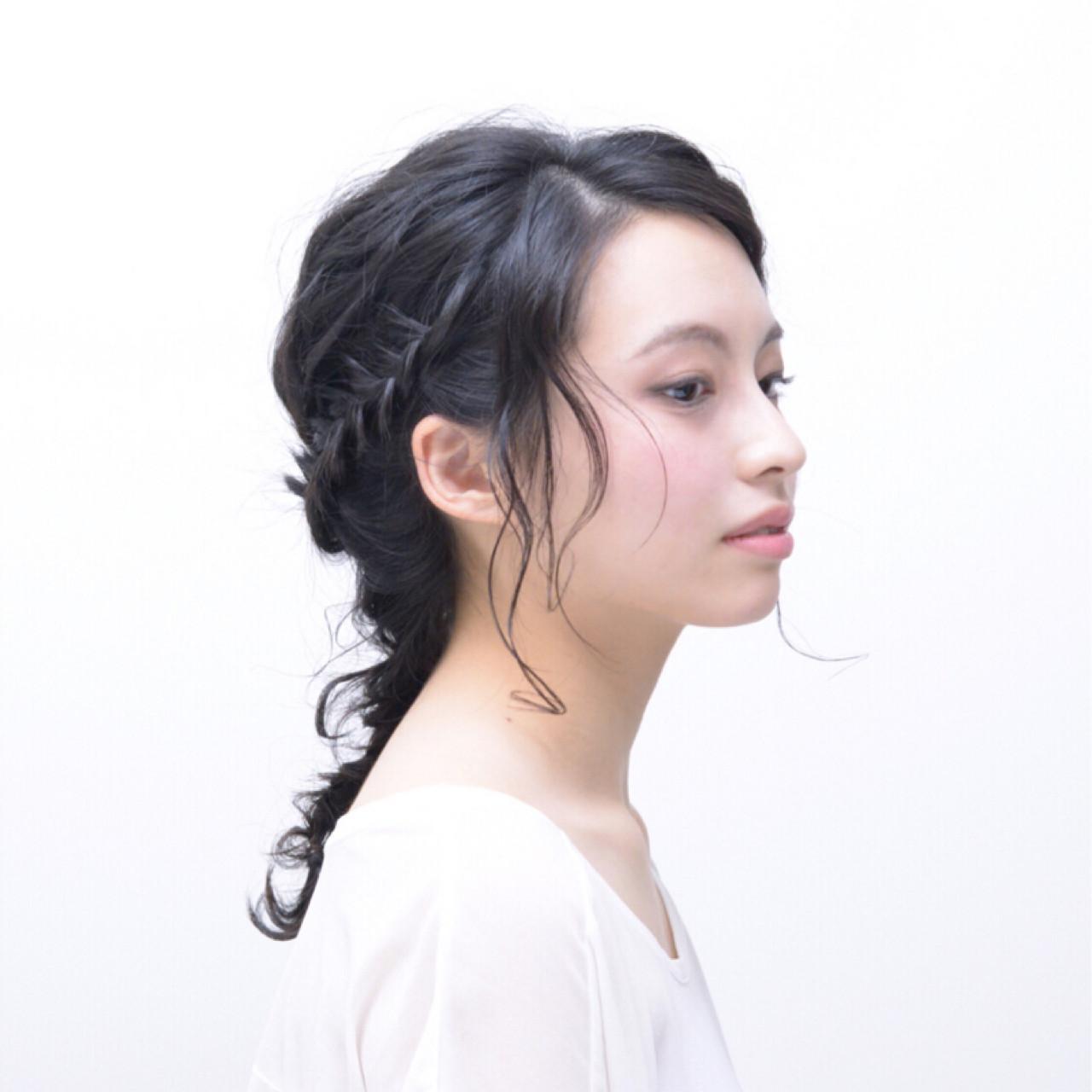 前髪なしですっきり見せ♡大人っぽ編み込みヘア イシカワ トモミ