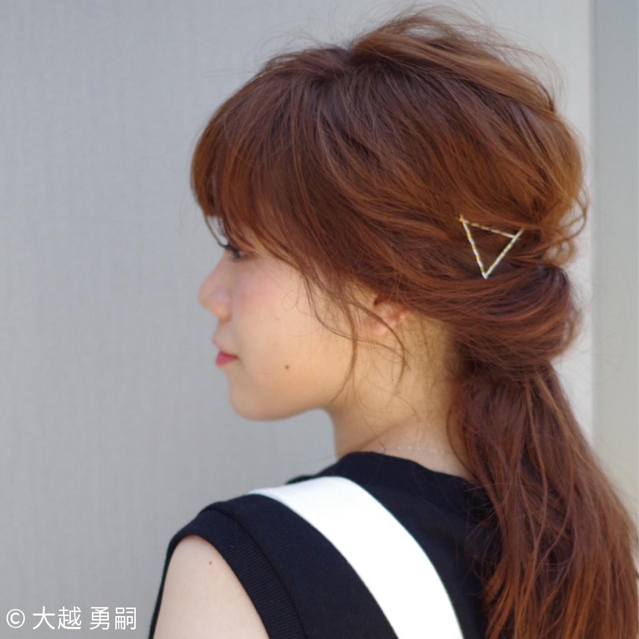簡単ヘアアレンジ ヘアアレンジ ガーリー 大人女子 ヘアスタイルや髪型の写真・画像