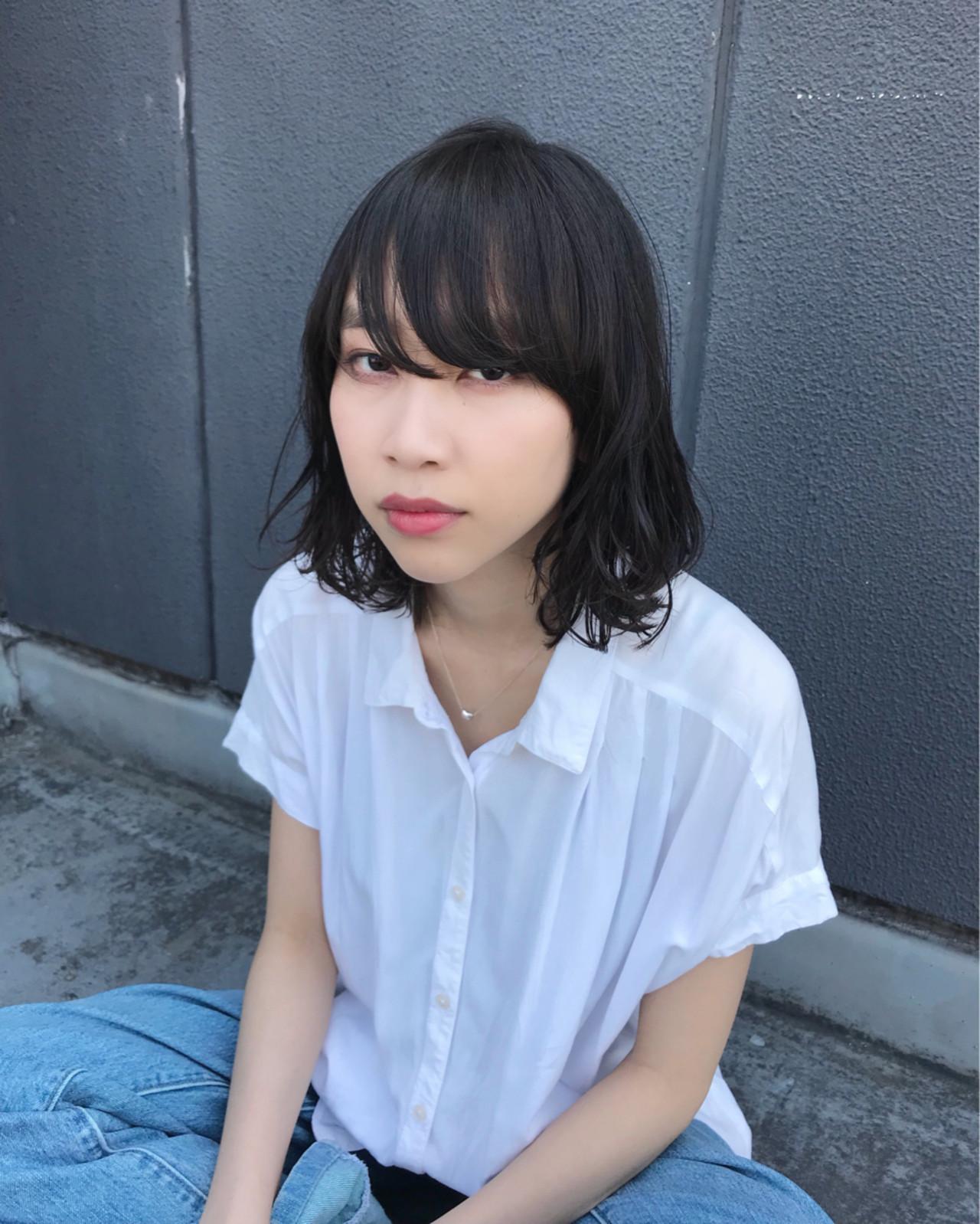 黒髪 ヘアアレンジ 色気 ショート ヘアスタイルや髪型の写真・画像