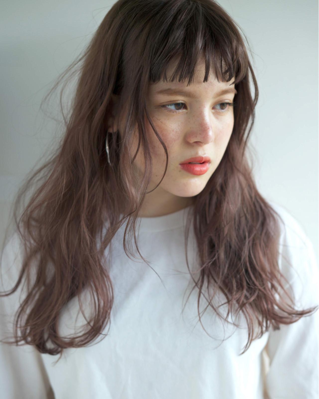 透明感 リラックス 愛され ロング ヘアスタイルや髪型の写真・画像