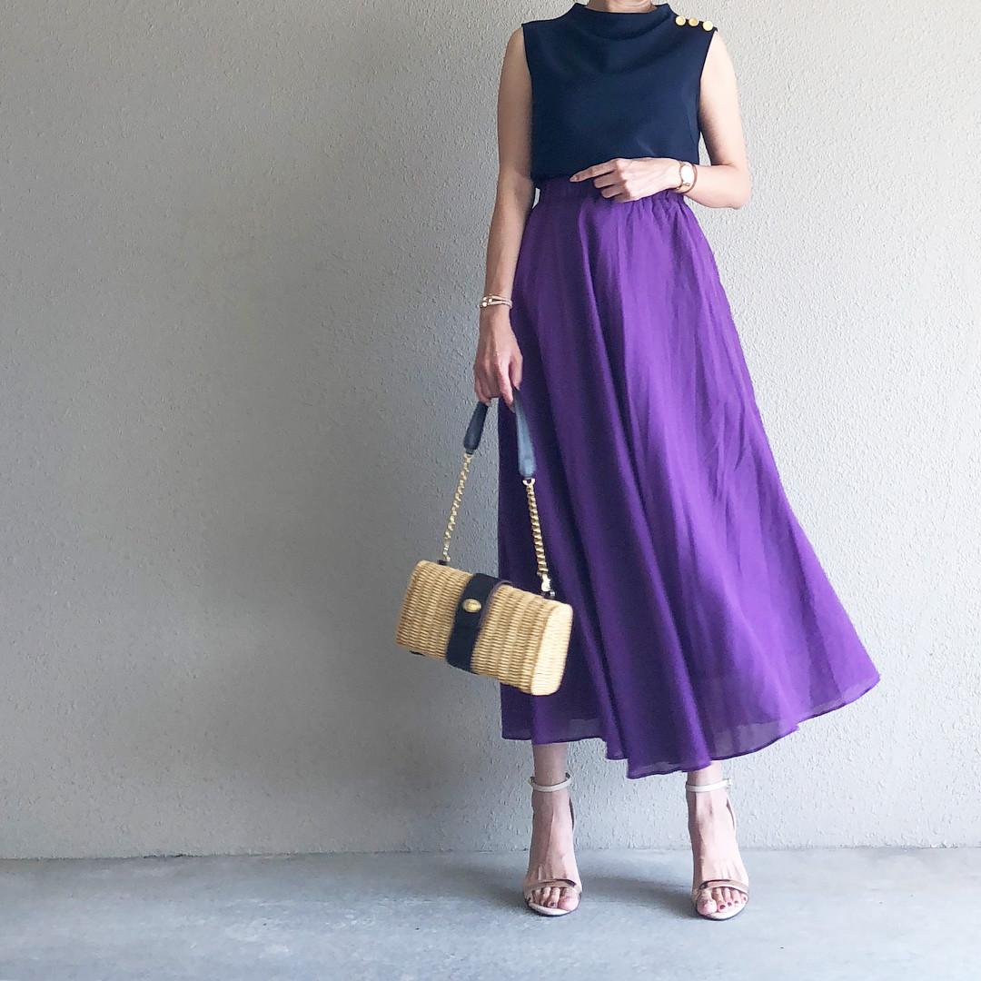 大人っぽいパープルのスカート saaaay_k