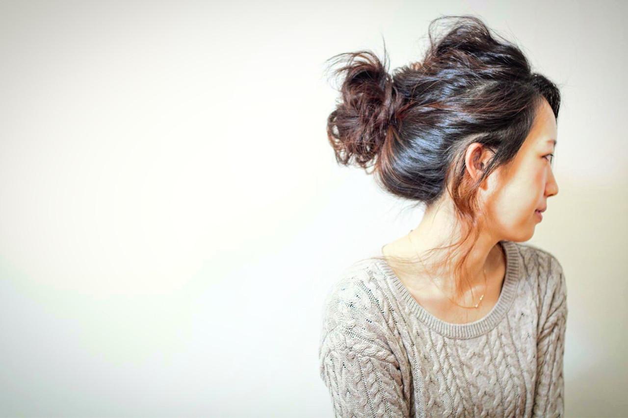 くるりんぱ ヘアアレンジ ルーズ 簡単ヘアアレンジ ヘアスタイルや髪型の写真・画像