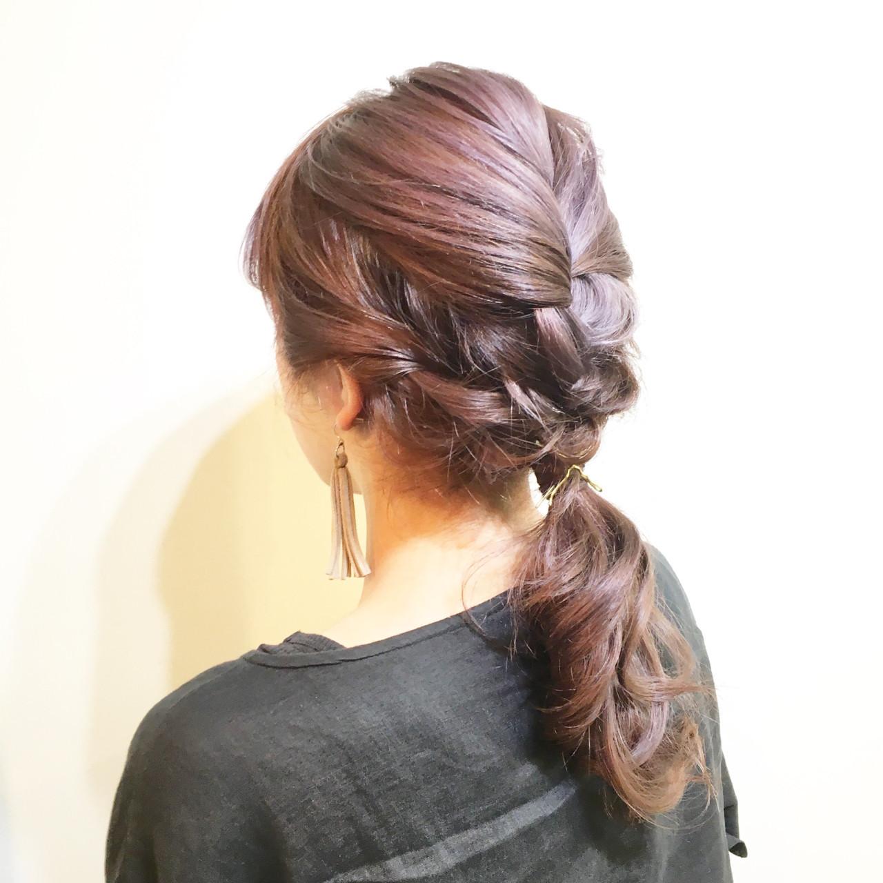 ヘアアレンジ ハーフアップ 夏 ポニーテール ヘアスタイルや髪型の写真・画像