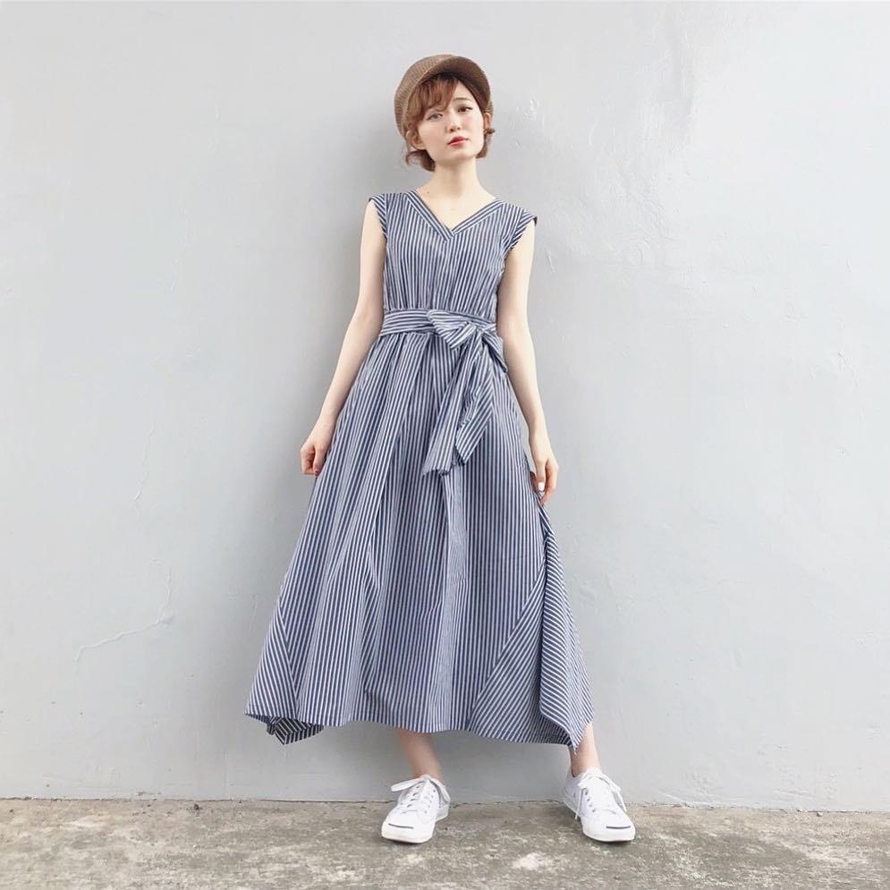 清潔感のあるストライプワンピース yukichi_yuki