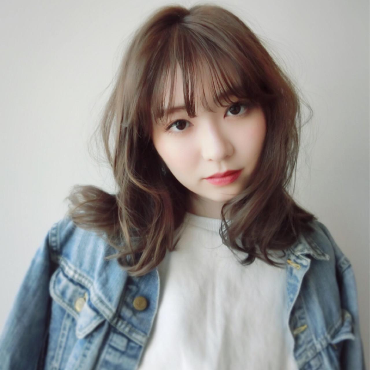 ロング×シースルーバングで愛されモテヘアに♡ 尾花 佑輔