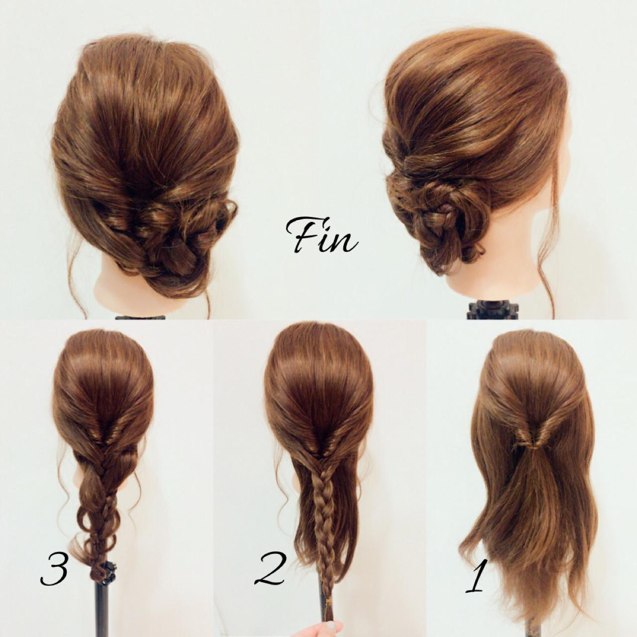 フェミニン ヘアアレンジ ミディアム 春 ヘアスタイルや髪型の写真・画像