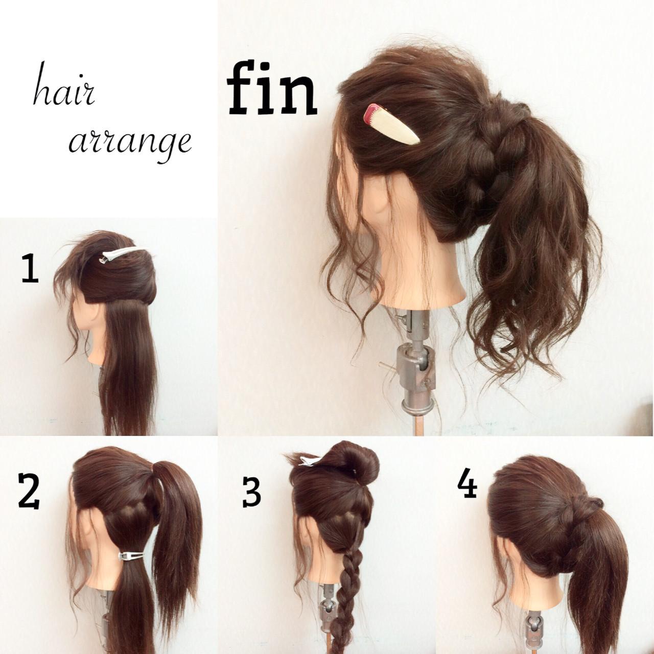 ヘアアレンジ フェミニン ショート ロング ヘアスタイルや髪型の写真・画像