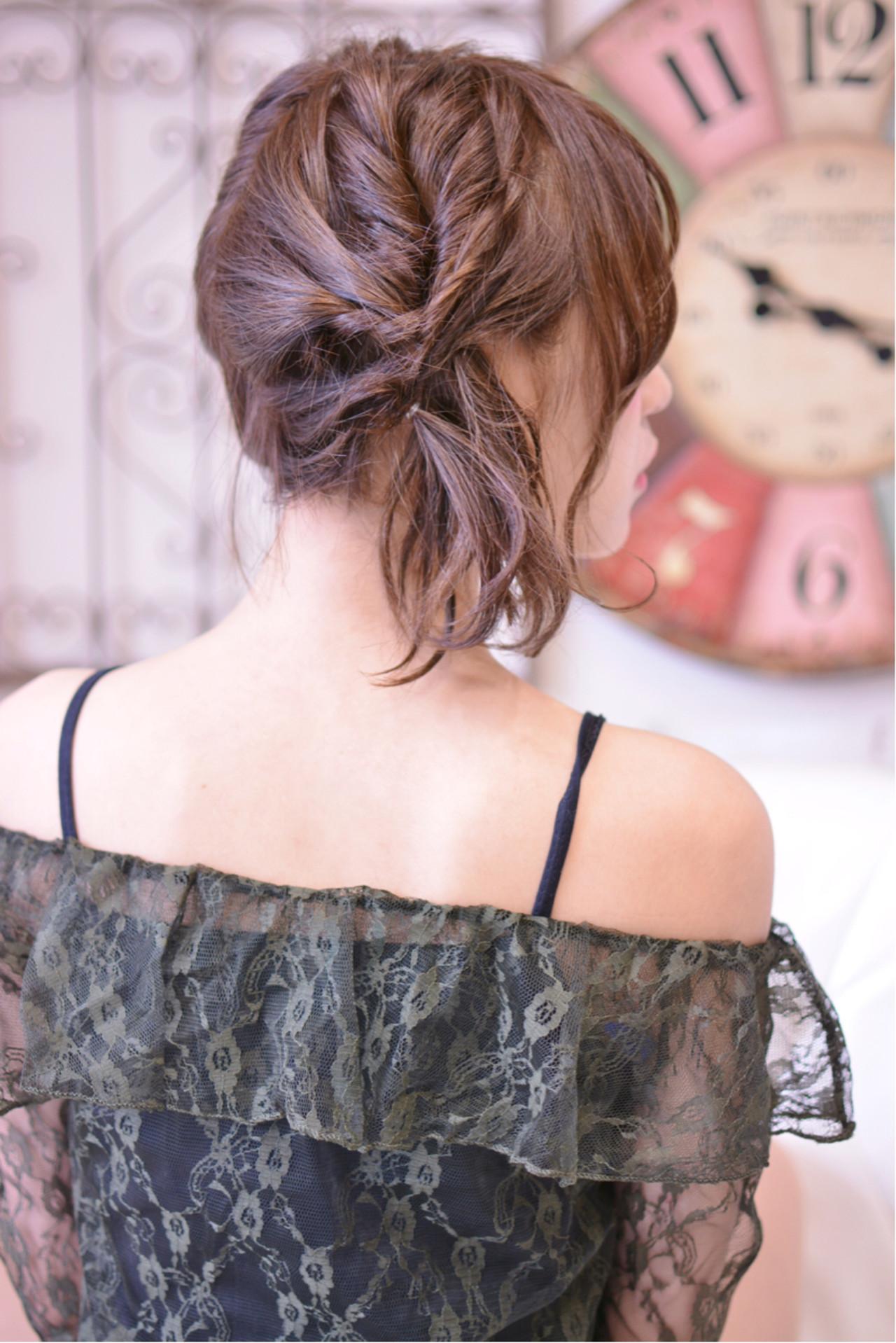 デート ガーリー ツインテール ミディアム ヘアスタイルや髪型の写真・画像
