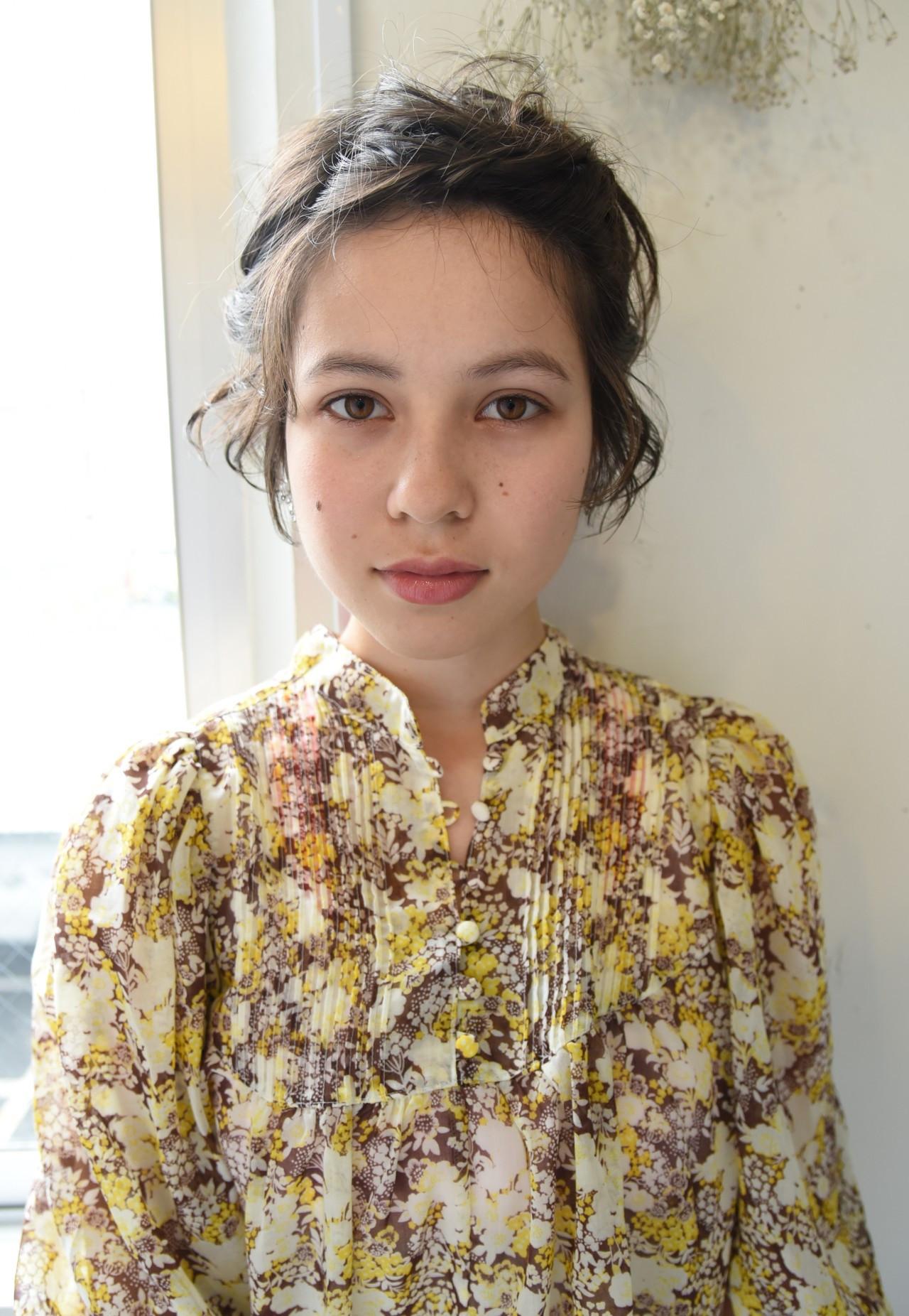 デート 大人かわいい ショートボブ 外国人風 ヘアスタイルや髪型の写真・画像