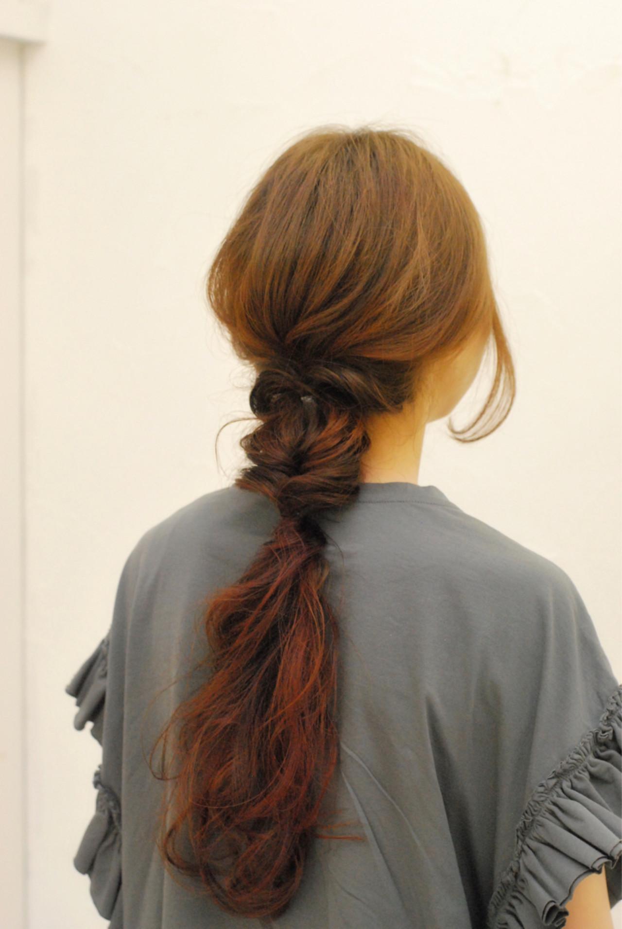 ヘアアレンジ ショート ストリート ロング ヘアスタイルや髪型の写真・画像