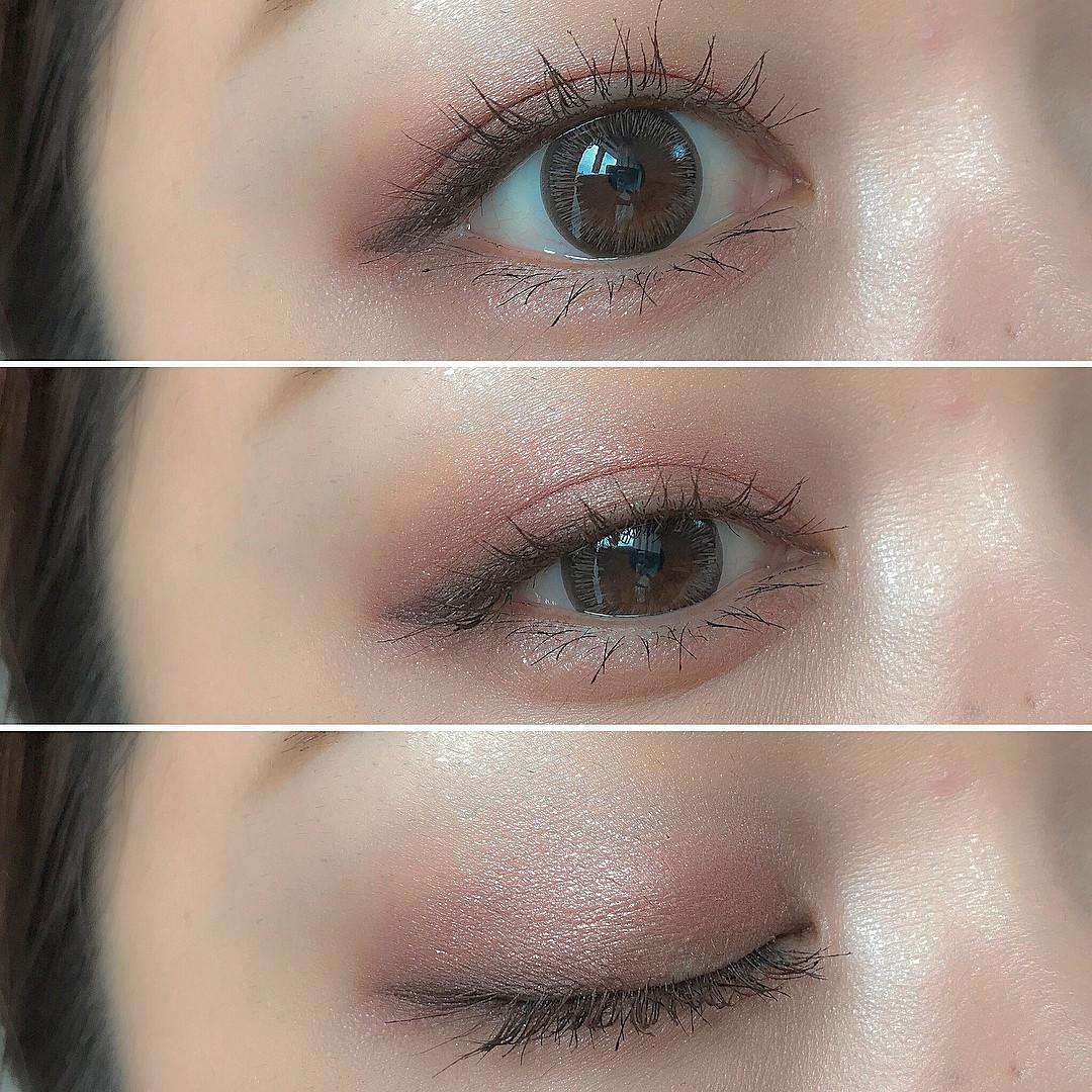 目のキワのブラウンでほんのり影を作ろう♪ xxizumiiixx