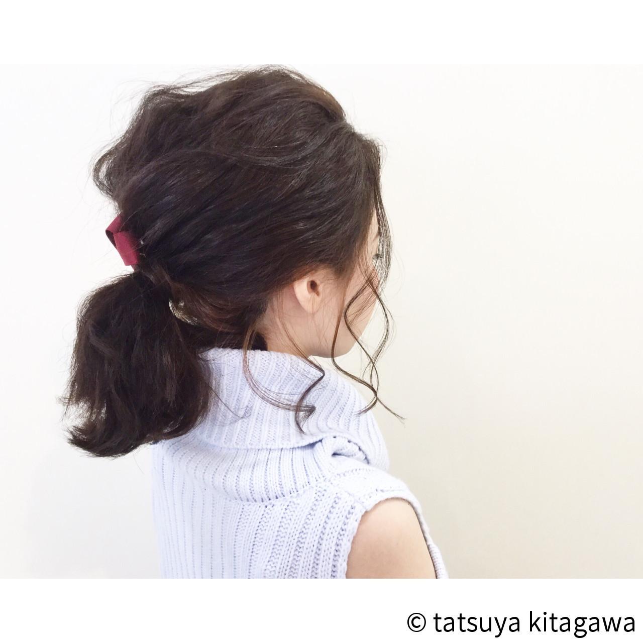 後れ毛が色っぽ♪デートにやってみたいポニー tatsuya kitagawa
