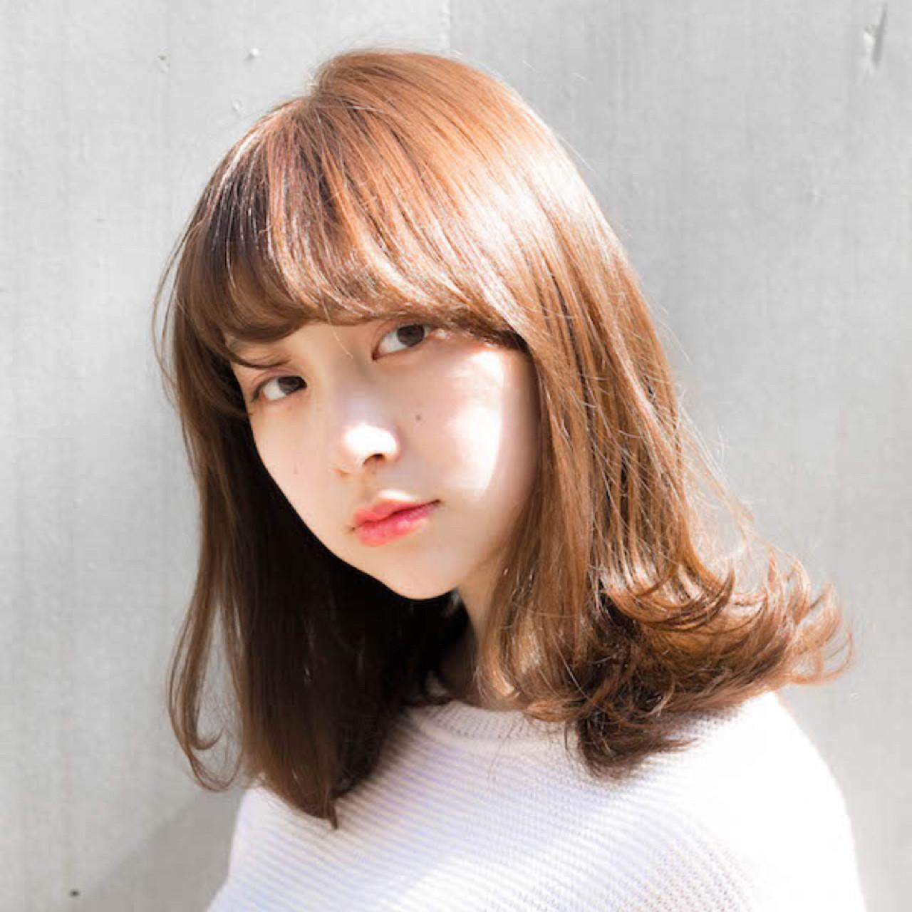 パーマ 夏 大人かわいい 前髪あり ヘアスタイルや髪型の写真・画像