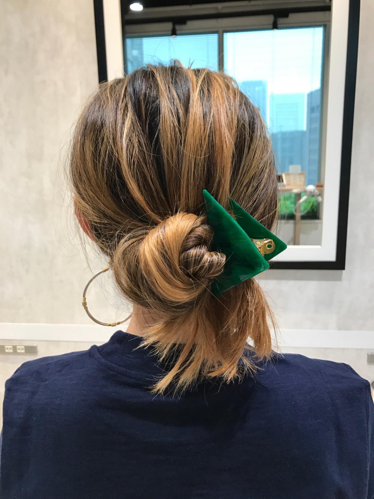 ヘアクリップ ロング ナチュラル ヘアアレンジ ヘアスタイルや髪型の写真・画像