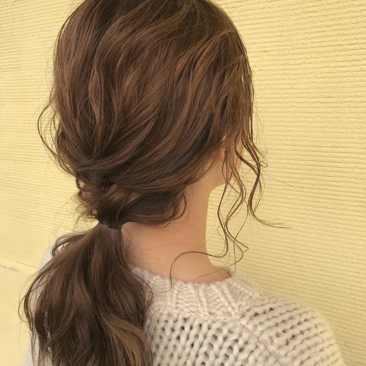ハイライト 抜け感 バレンタイン セミロング ヘアスタイルや髪型の写真・画像
