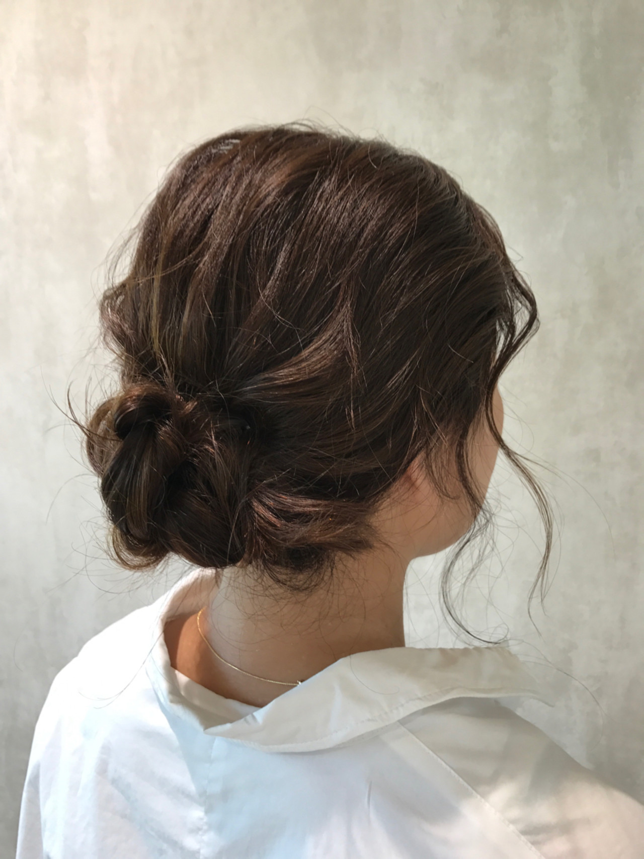 簡単ヘアアレンジ ラフ ナチュラル 結婚式 ヘアスタイルや髪型の写真・画像