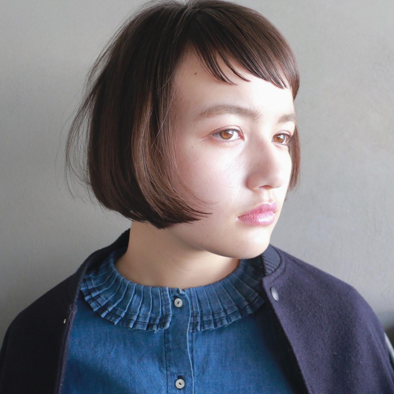 ナチュラル 色気 ボブ 冬 ヘアスタイルや髪型の写真・画像