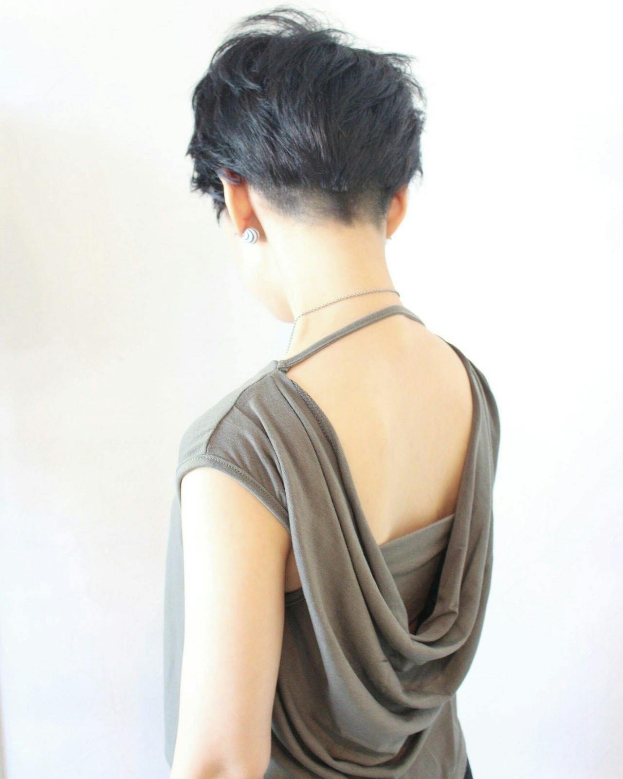 コンサバ 坊主 ベリーショート 夏 ヘアスタイルや髪型の写真・画像