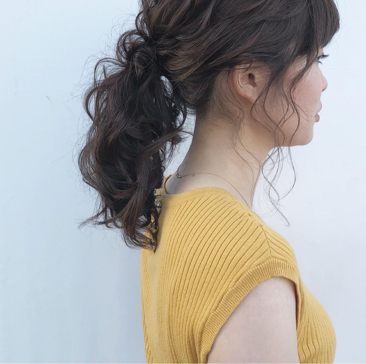 ヘアアレンジ 簡単ヘアアレンジ 大人かわいい デート ヘアスタイルや髪型の写真・画像