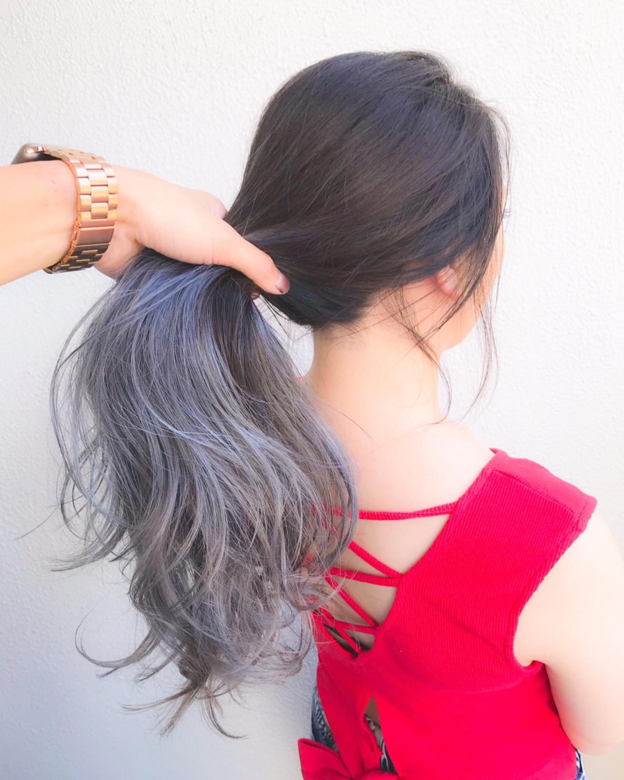 ロング グラデーションカラー コンサバ ダブルカラー ヘアスタイルや髪型の写真・画像