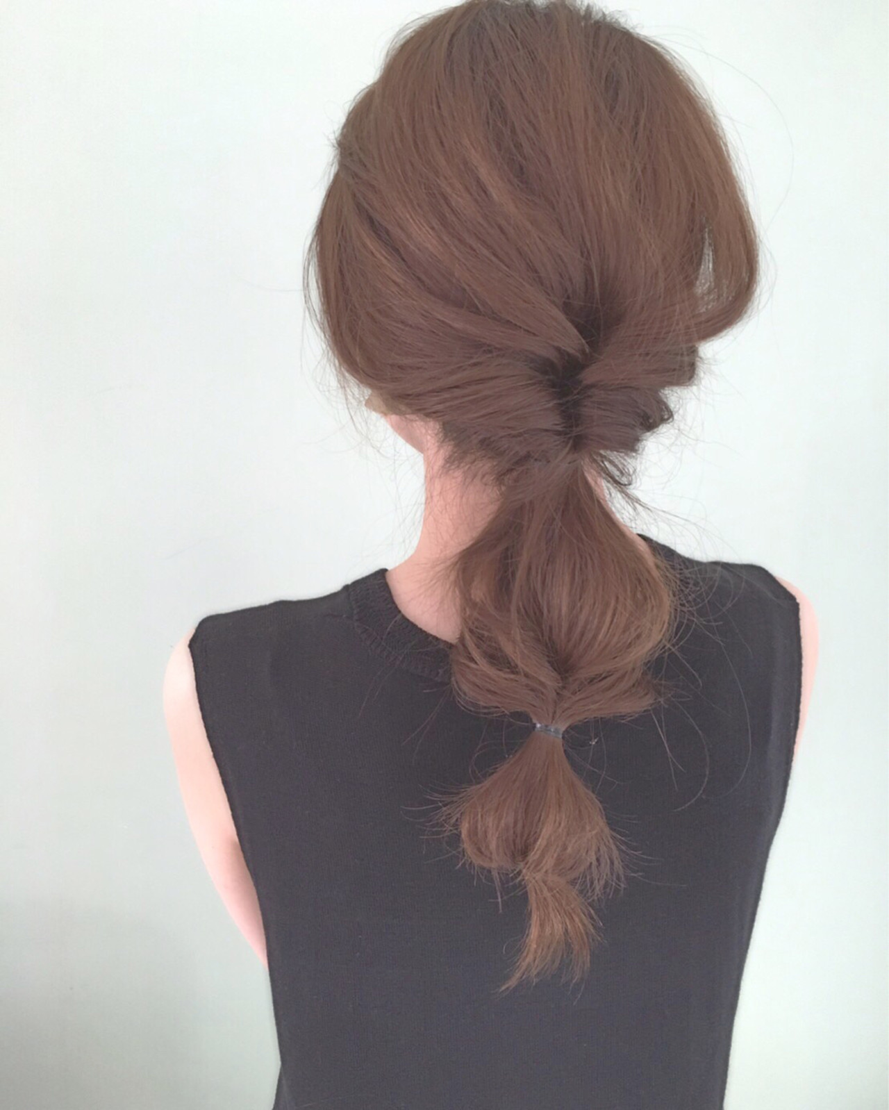 くるりんぱ 簡単ヘアアレンジ セミロング ヘアアレンジ ヘアスタイルや髪型の写真・画像