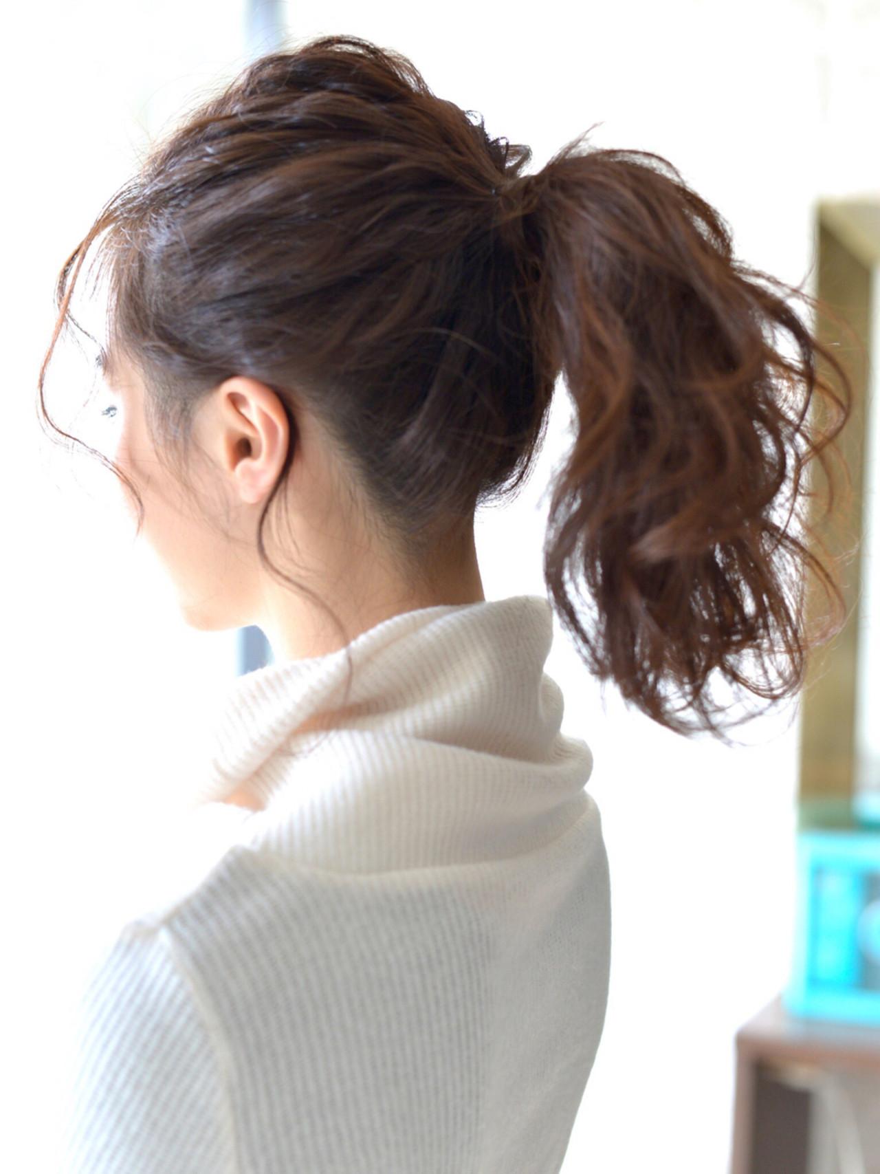 ショート ゆるふわ 簡単ヘアアレンジ セミロング ヘアスタイルや髪型の写真・画像