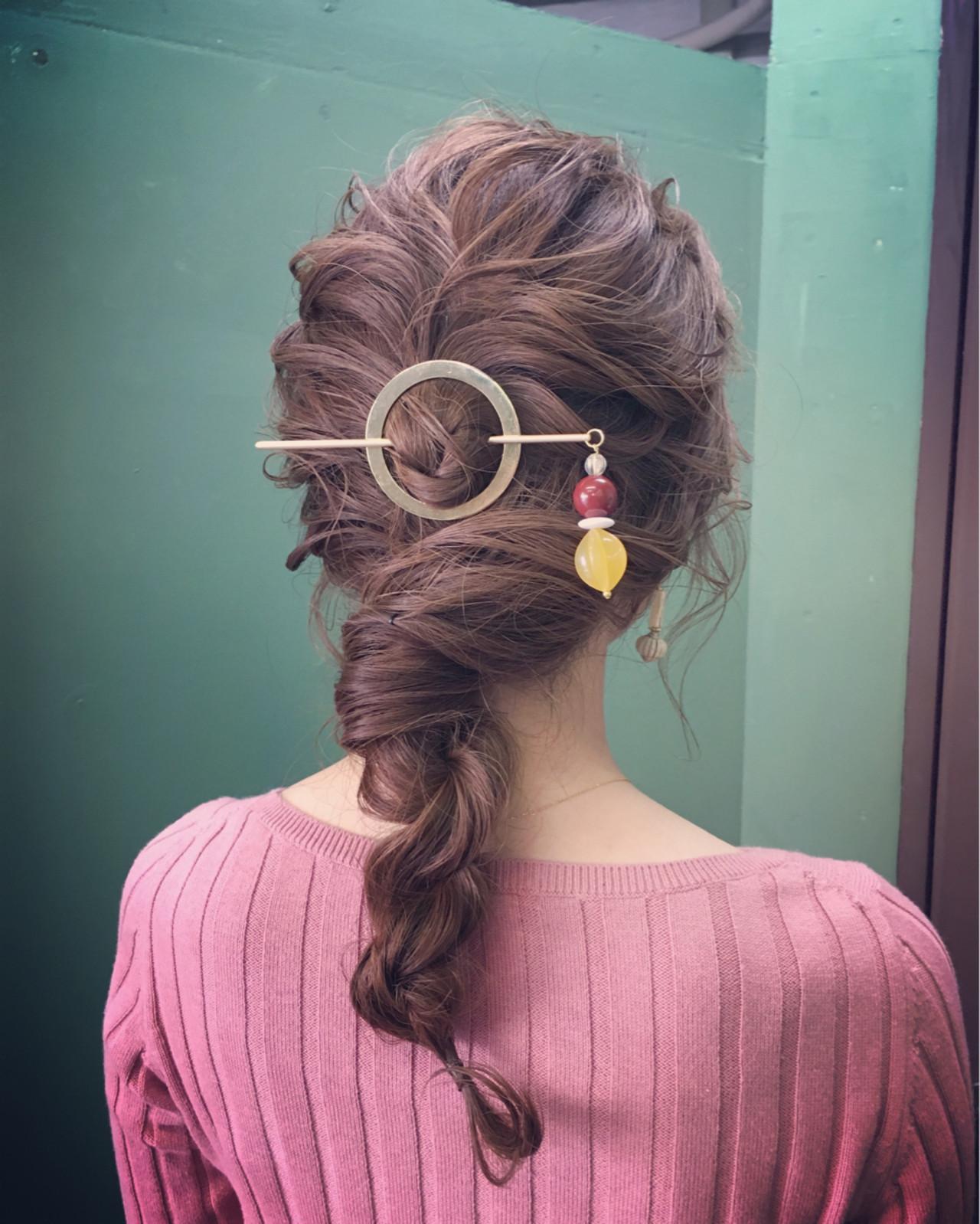 マジェステ ショート ミディアム 簡単ヘアアレンジ ヘアスタイルや髪型の写真・画像