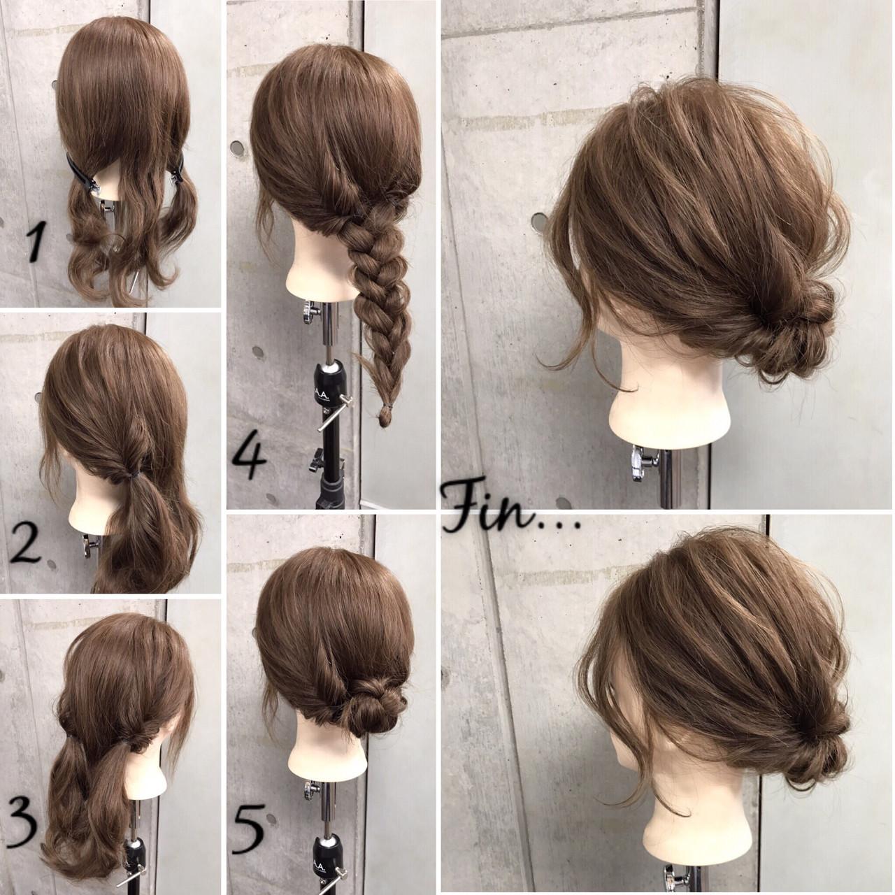 オフィス 雨の日 女子会 ヘアアレンジ ヘアスタイルや髪型の写真・画像