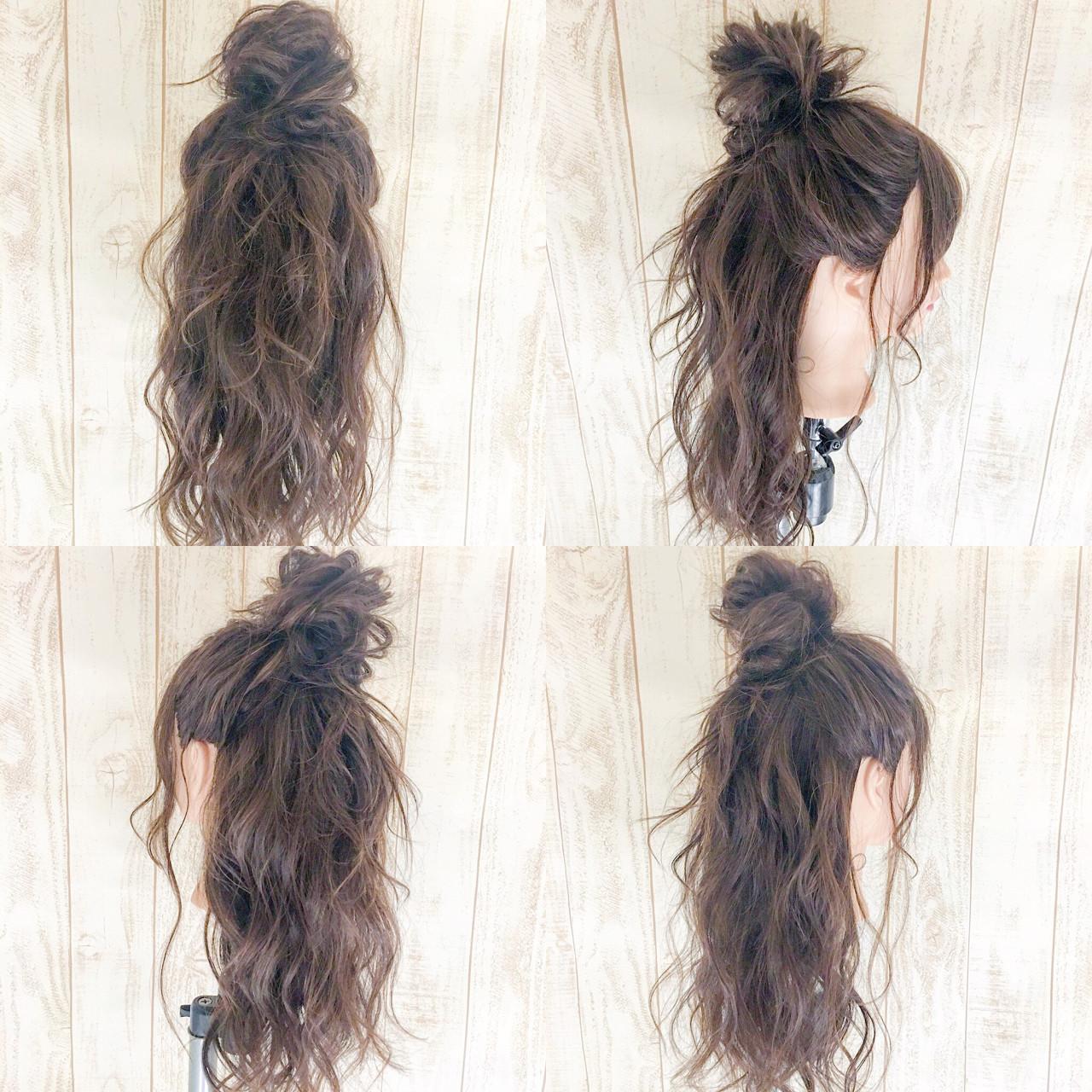 フェミニン デート ルーズ セミロング ヘアスタイルや髪型の写真・画像