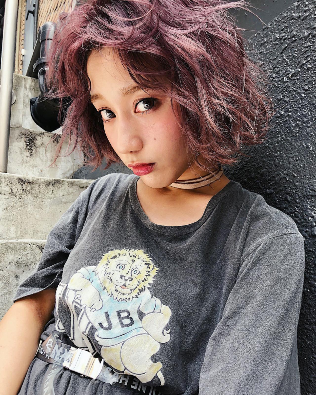 外国人風カラー 透明感 ラベンダーアッシュ ストリート ヘアスタイルや髪型の写真・画像