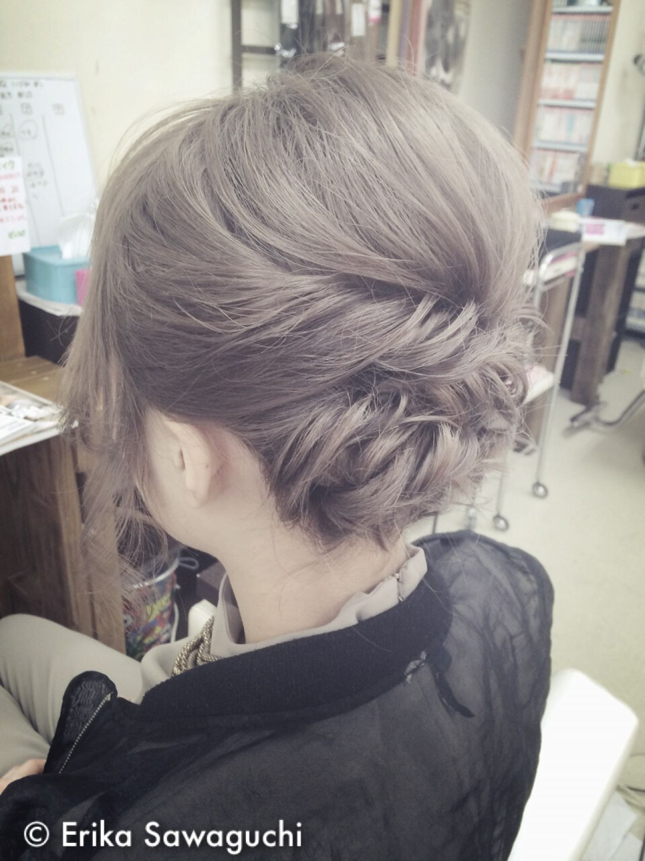 まとめ髪 ヘアアレンジ ゆるふわ 簡単 ヘアスタイルや髪型の写真・画像