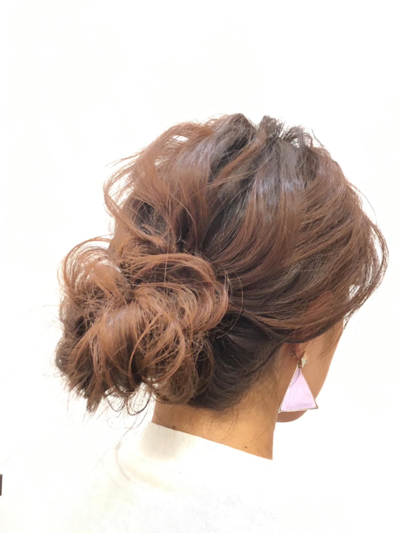 ショート ヘアアレンジ 簡単ヘアアレンジ ゆるふわ ヘアスタイルや髪型の写真・画像
