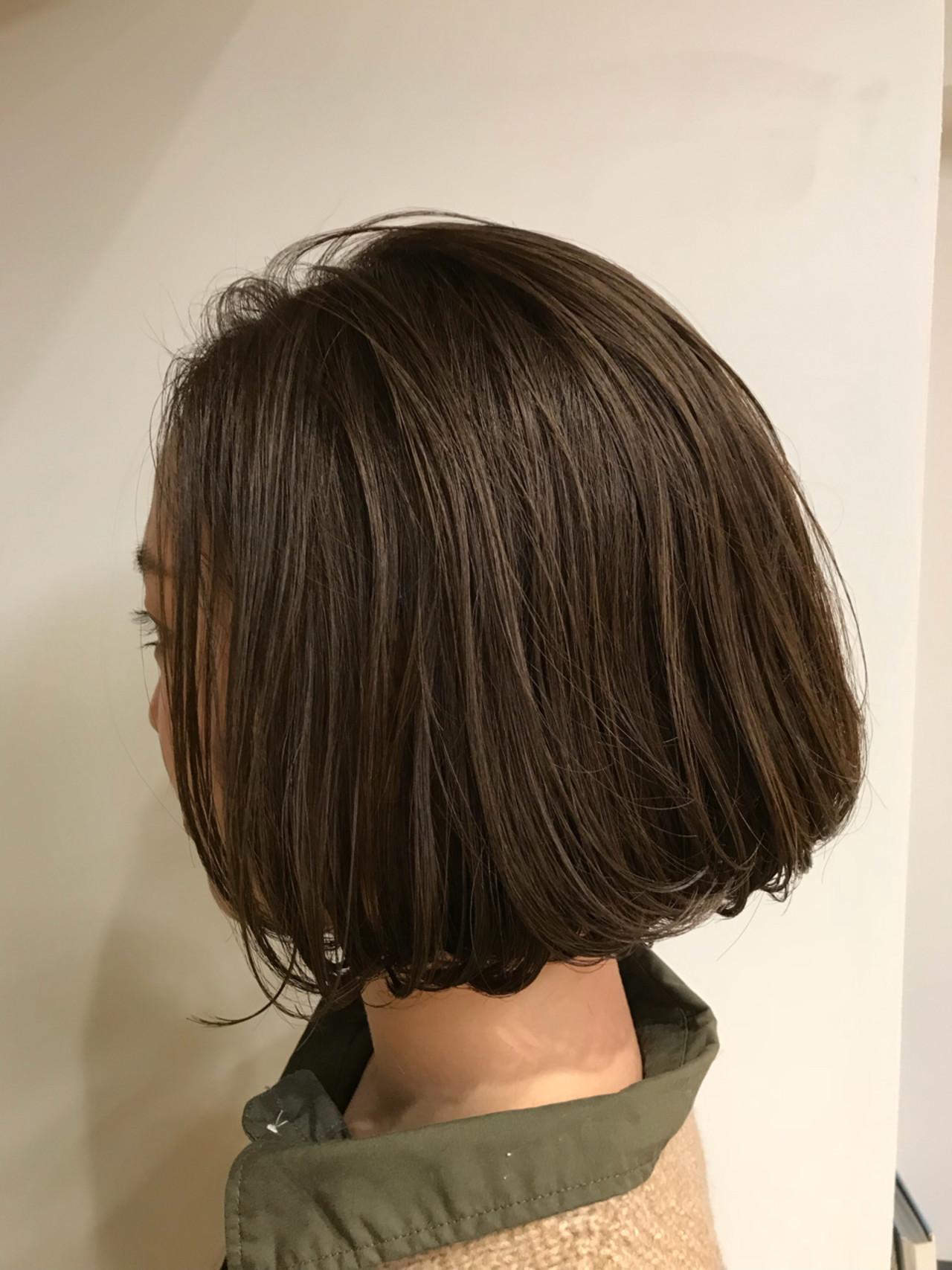 色気 こなれ感 グレージュ 切りっぱなし ヘアスタイルや髪型の写真・画像
