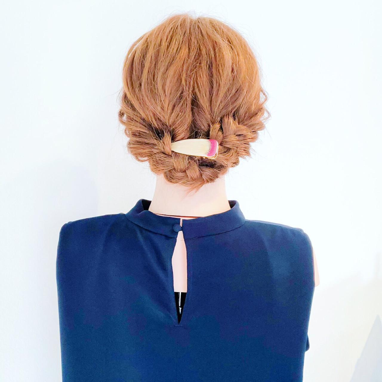 くるりんぱと三つ編みでシニヨンアレンジも簡単に HIRO