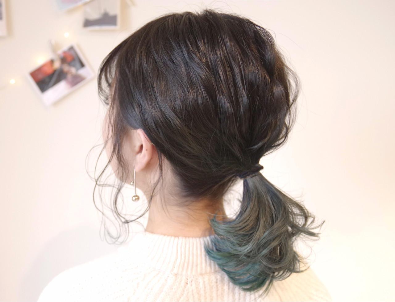 ヘアアレンジ 簡単ヘアアレンジ ミディアム オフィス ヘアスタイルや髪型の写真・画像