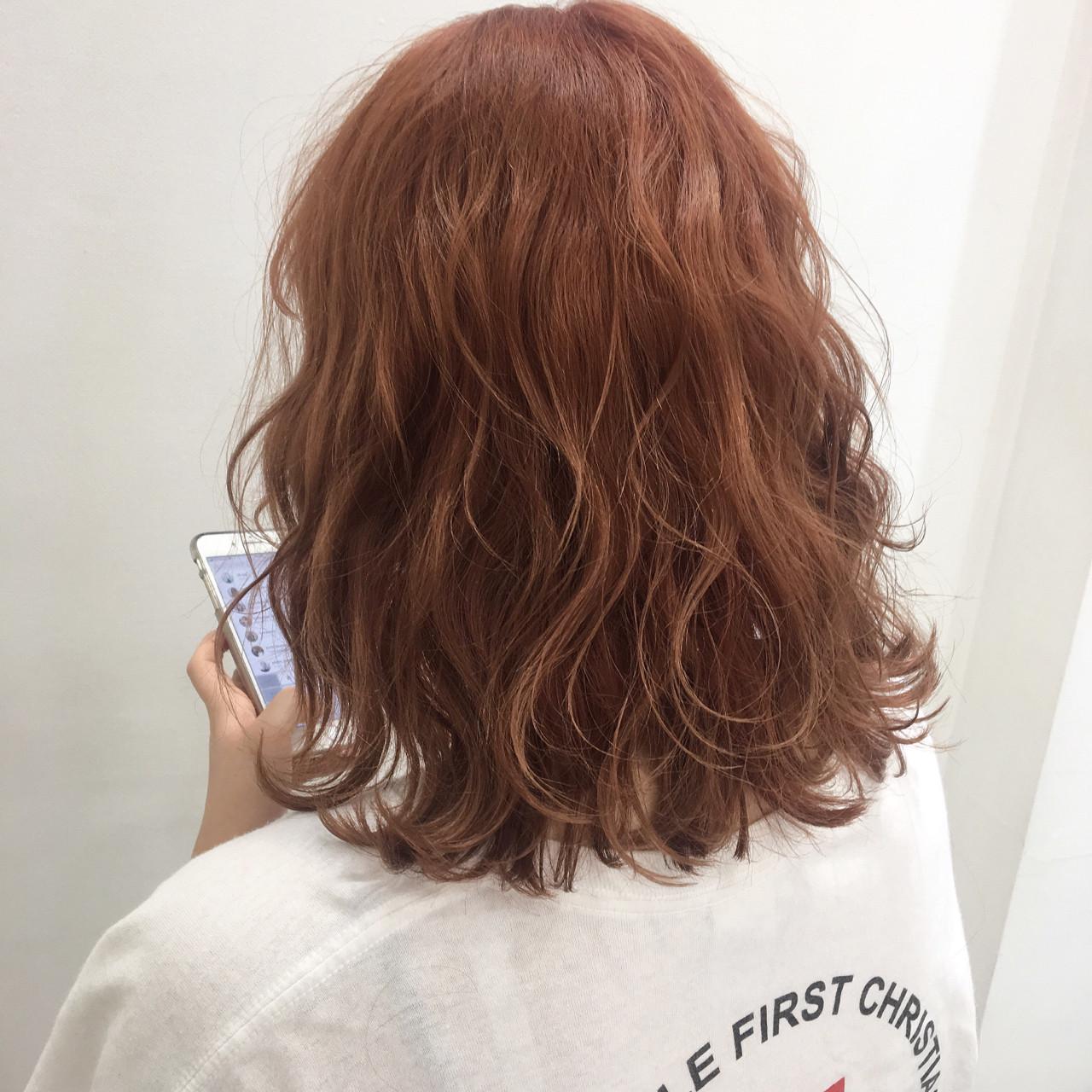 カール ミディアム オルチャン ガーリー ヘアスタイルや髪型の写真・画像