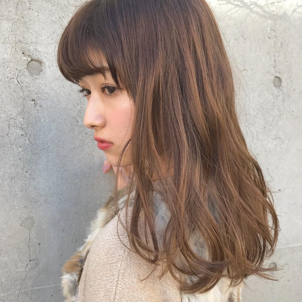 ラフ ウェーブ 抜け感 春 ヘアスタイルや髪型の写真・画像