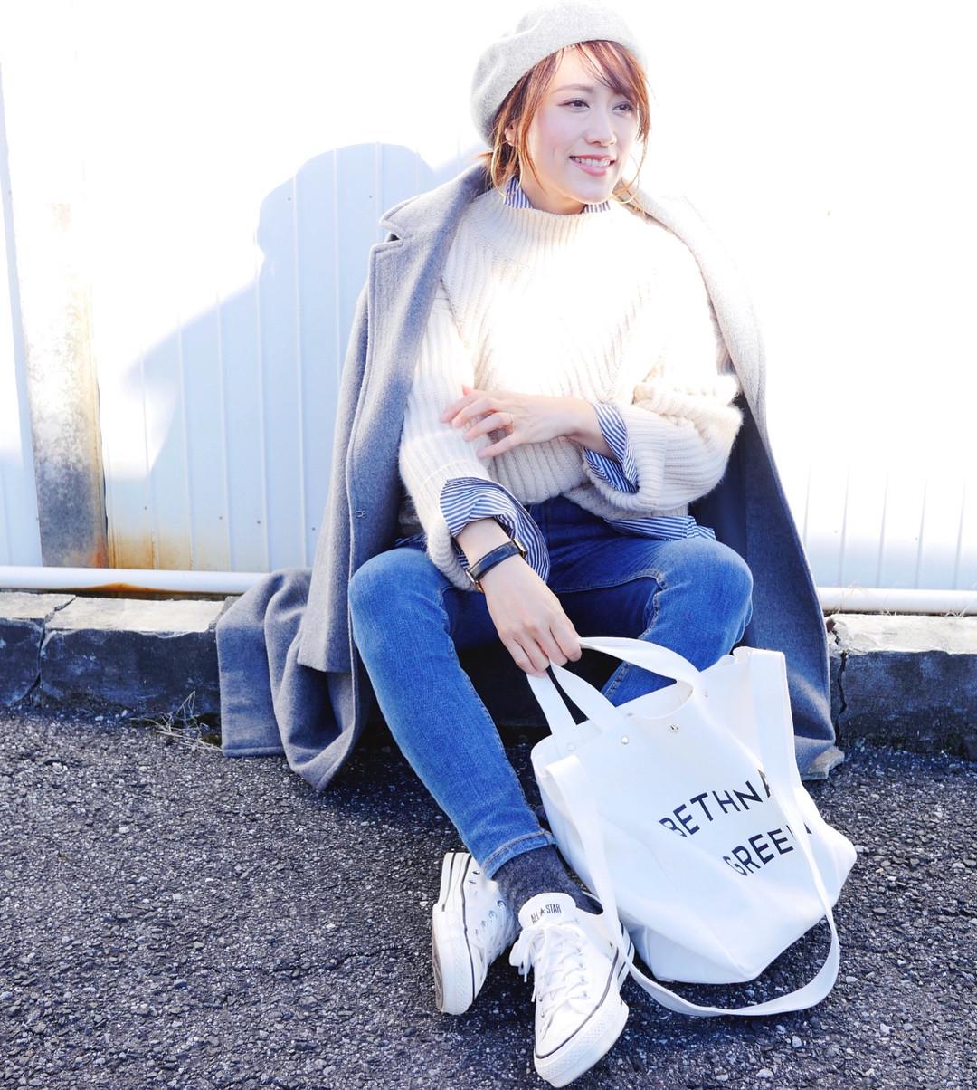 横広大きめトートはママのお買い物にもぴったり! 出典:mikiaoba