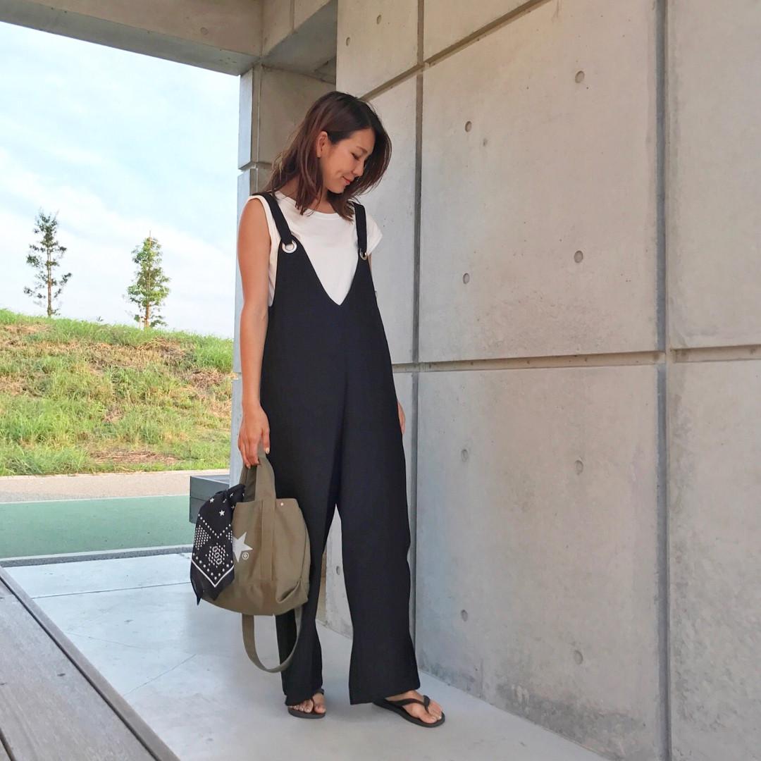 ミニキャンバストートにバンダナをつけても可愛い♡ 出典:natsu420